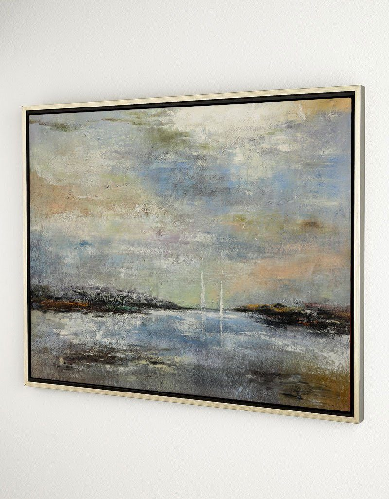 Unique Extra Large Coastal Wall Art Abstract Beach Painting Contemporary Seascape Paintings