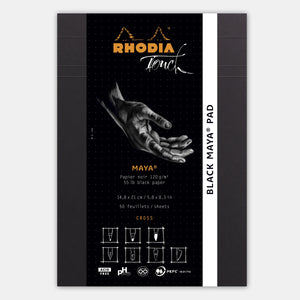 Bloc maya A5 cross and dot papier noir 120 g/m²