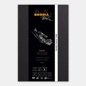 Bloc maya A4+ cross and dot papier noir 120 g/m²
