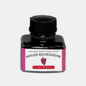 Bouteille 30 ml encre pour stylo rouge bourgogne