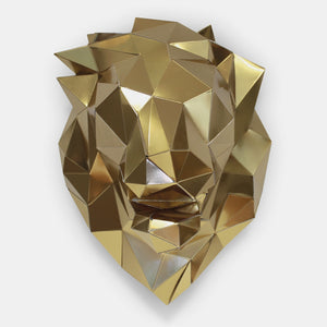 Trophee en papier lion or