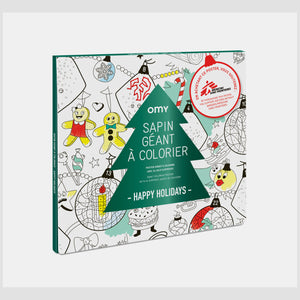 Poster geant a colorier Christmas factory