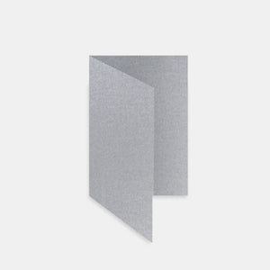 Carte pre pliee rectangulaire 170x230 metallisee argent