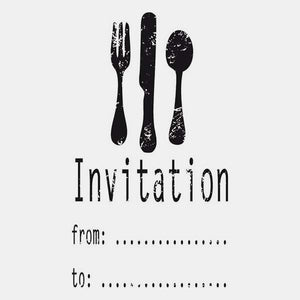 Tampon invitation couvert