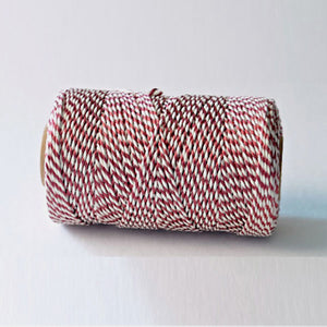 Bakers twine metallic bordeaux - bobine de 20 metres