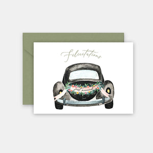 Carte de Félicitations - Just married