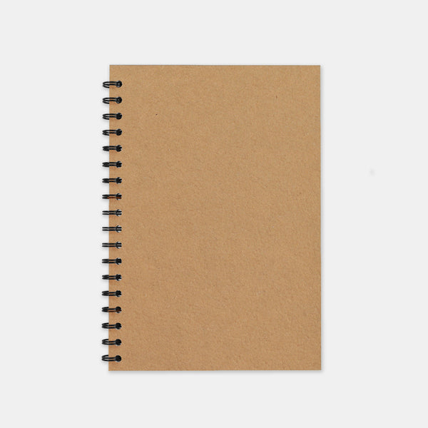 Carnet recycle kraft 148x210 pages unies