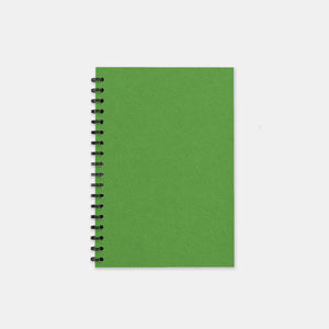 Carnet recycle vert anis 105x155 pages unies