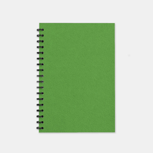 Carnet recycle vert anis 148x210 pages unies