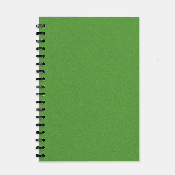 Cahier recycle vert anis 180x250 pages lignées