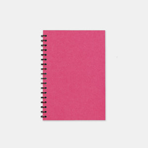 Carnet recycle fuschia 105x155 pages unies