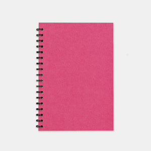 Carnet recycle fuschia 148x210 pages unies