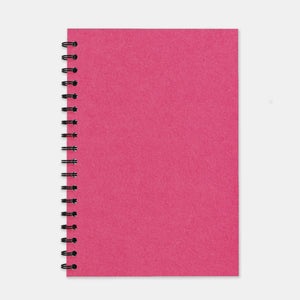 Cahier recycle fuschia 180x250 pages lignées