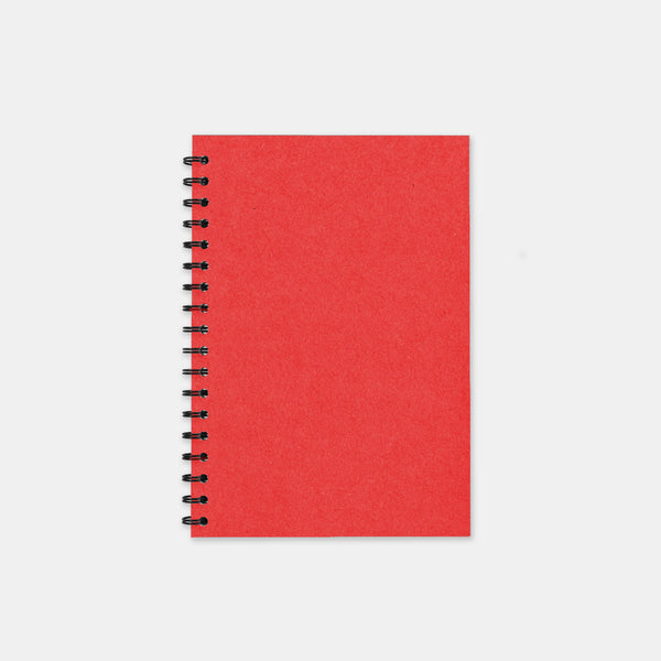 Carnet recycle rouge 105x155 pages lignées