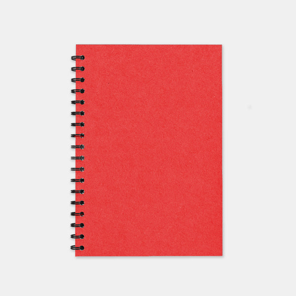 Carnet recycle rouge 148x210 pages unies