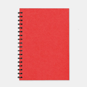 Cahier recycle rouge 180x250 pages lignées