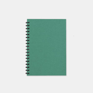 Carnet recycle vert turquoise 105x155 pages unies