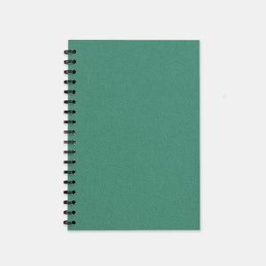 Carnet recycle vert turquoise 148x210 pages unies