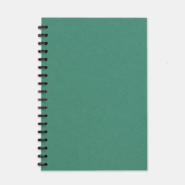 Cahier recycle vert turquoise 180x250 pages lignées