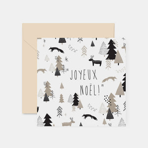 Carte Noel foret taupe