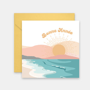 Carte de voeux Sunset Beach