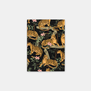Carnet A6 Lazy Jungle noir