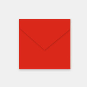 Enveloppe 155x155 mm velin rouge corail