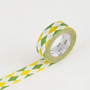 Masking tape motif argyle yellow