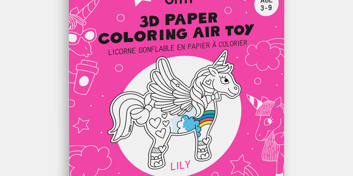 Air Toy 3d Licorne Lily Omy L Art Du Papier Paris