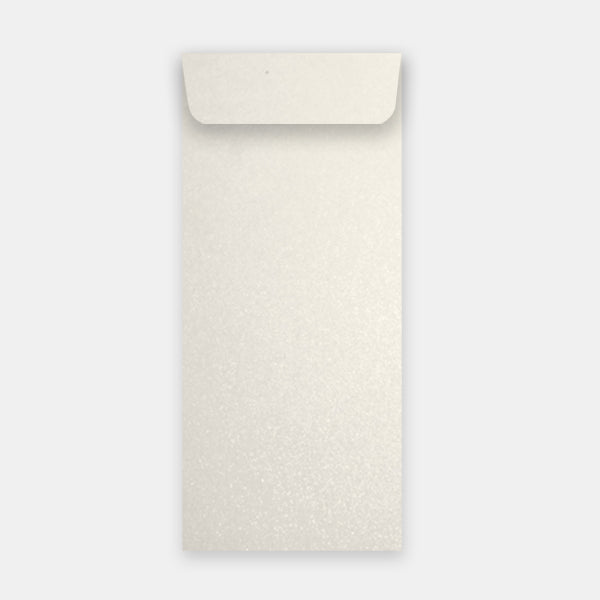 Pochette 115x324 mm paillette cryogen white