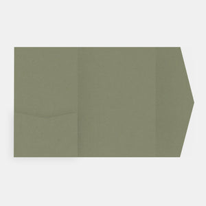 Carte a compartiment Pockart 180 kraft Olive