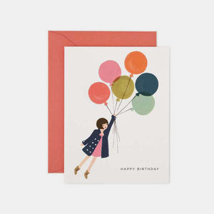 Carte anniversaire - Fly away birthday