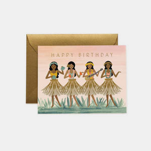 Carte anniversaire - Hula birthday