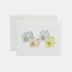 Carte de Feliciations - Baby blocks