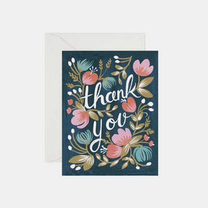 Carte de remerciement - Thank you midnight garden