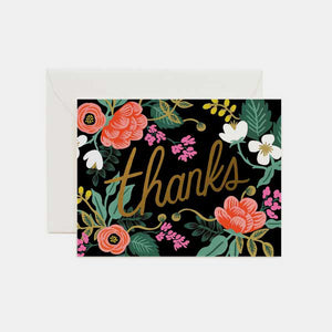 Carte de remerciement - Thank you floral