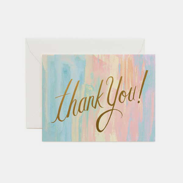 Carte de remerciement - Thank you watercolor