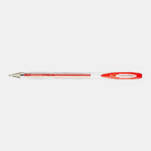 Stylo encre gel metal paillette pointe fine rouge uniball