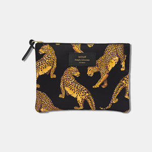 Trousse large pouch Black Leopard