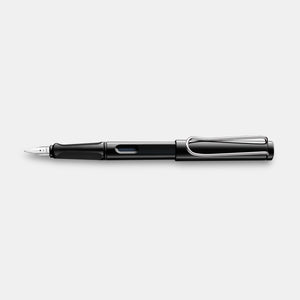 Stylo plume safari - noir brillant