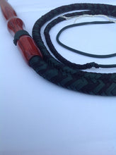 Load image into Gallery viewer, 5 Ft. Black and Green Florida Cow Whip