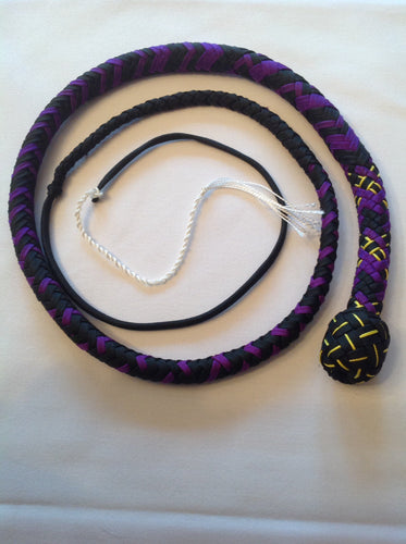 3 Foot Black & Purple Snake Whip