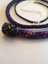 Load image into Gallery viewer, 3 Foot Black & Purple Snake Whip