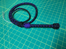 Load image into Gallery viewer, 4 Foot Black & Purple Bullwhip