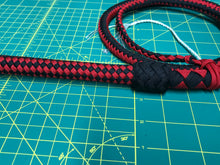 Load image into Gallery viewer, 4 Ft Black & Red Nylon Bullwhip