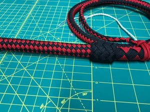 4 Ft Black & Red Nylon Bullwhip