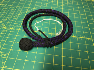 3 Ft Purple & Black Snake Whip