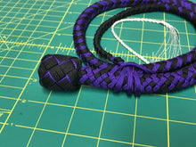 Load image into Gallery viewer, 3 Ft Purple & Black Nylon Snake Whip