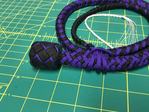 3 Ft Purple & Black Nylon Snake Whip