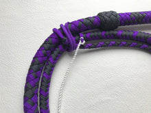 Load image into Gallery viewer, 5 Ft. Purple Nylon Bullwhip